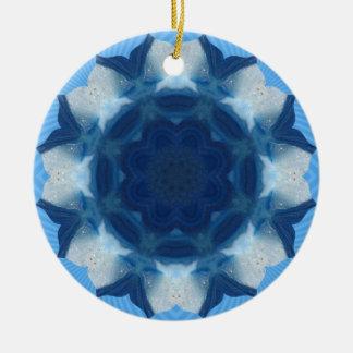 "Blue ""Whale Tail"" Pattern! Ceramic Ornament"