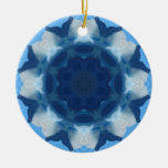 """Blue """"Whale Tail"""" Pattern! Christmas Tree Ornaments"""