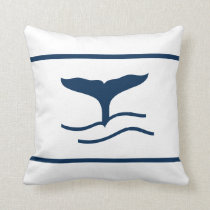 Blue whale tale on white pillow