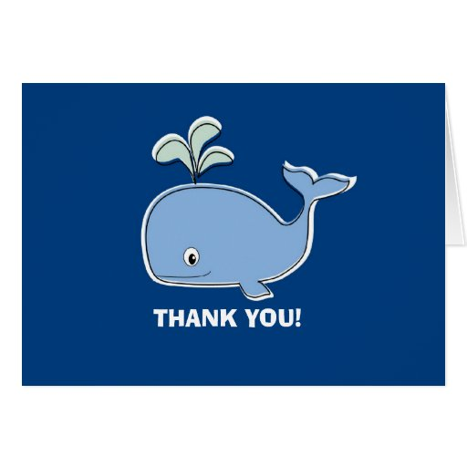 Blue Whale Thank You Card