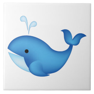 Blue whale tile