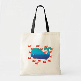 Blue Whale Tote Bag
