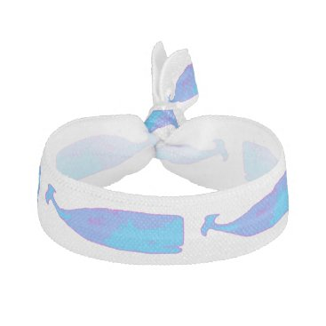 Beach Themed blue whale underwater swimming pink hair tie
