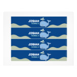Blue Whale Water Bottle Labels Personalized Letterhead