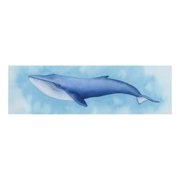 Art Themed Blue Whale Watercolor Panel Wall Art