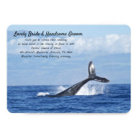 Blue Whale Wedding Invitation