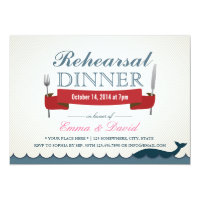 Blue Whale Wedding Rehearsal Dinner Invitations