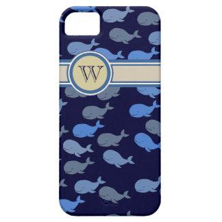 blue whales custom monogram iPhone SE/5/5s case