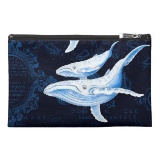 Blue Whales Family Indigo Travel Accessories Bags