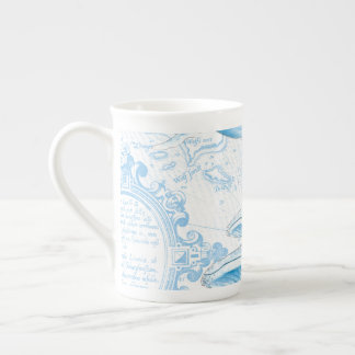 Blue Whales Family White Tea Cup