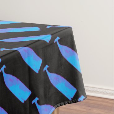 Beach Themed blue whales on any color tablecloth