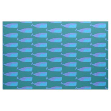 Beach Themed blue whales pattern fabric