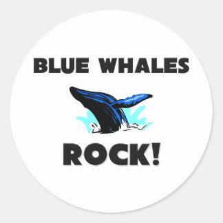 Blue Whales Rock Classic Round Sticker