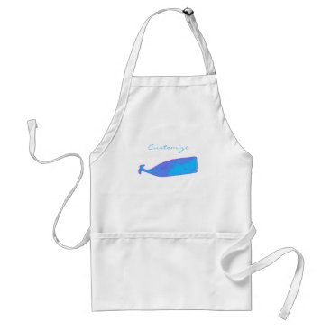 Beach Themed blue whaleThunder_Cove any color Adult Apron