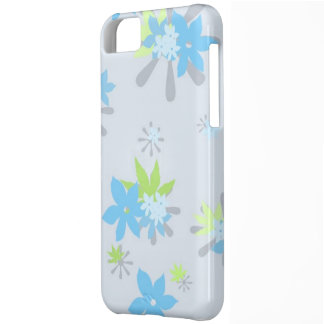 Blue Whimsical Floral Cover For iPhone 5C