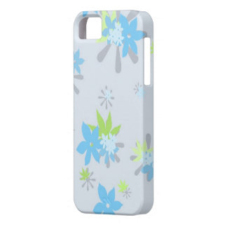 Blue Whimsical Floral iPhone SE/5/5s Case