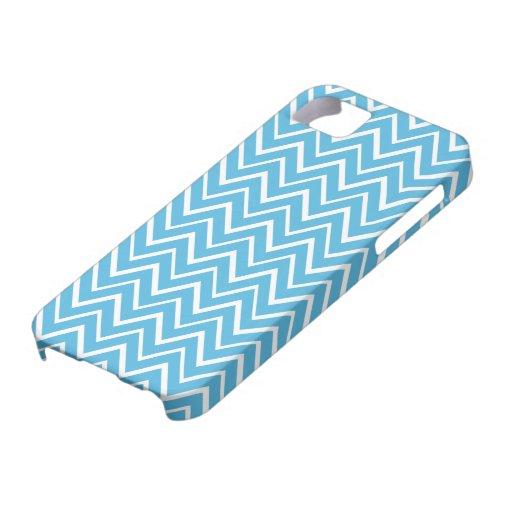 Blue whimsical zigzag chevron pattern case
