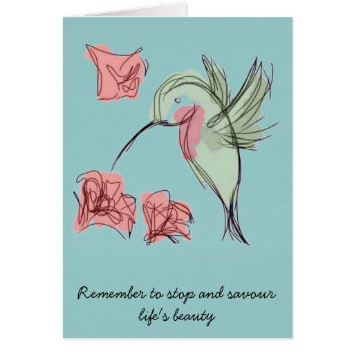 Blue Whimsy Hummingbird Cards
