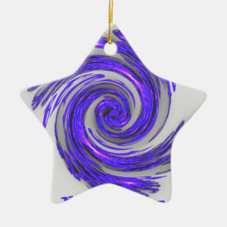 Blue Whirl Hakuna Matata Style.png Double-Sided Star Ceramic Christmas Ornament