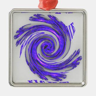 Blue Whirl Hakuna Matata Style.png Square Metal Christmas Ornament
