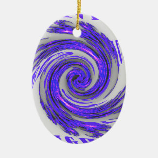 Blue Whirl Hakuna Matata Style.png Double-Sided Oval Ceramic Christmas Ornament
