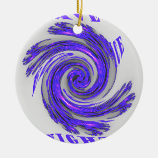 Blue Whirl Hakuna Matata Style.png Double-Sided Ceramic Round Christmas Ornament