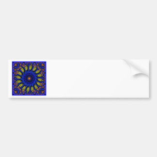 Blue Whirligig Bumper Sticker