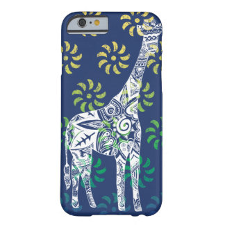 Blue Whirls Giraffe iPhone 6 case