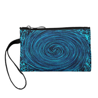 Blue whirlwind. Abstract composition. Key coin clu Coin Purse