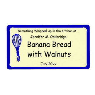 Blue Whisk Personalized Homemade Food Label