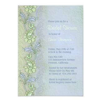 Blue Whisper Floral Bridal Shower Card