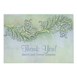 Blue Whisper Floral Thank You Card