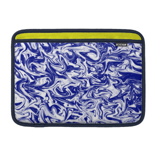 Blue & White Abstract Swirl MacBook Air Sleeves