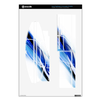 Blue White and Black Abstract PS3 Skin