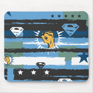 Blue, White and Fist Mouse Pad