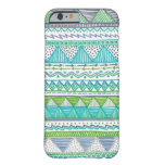Blue, White, and Green Drawn Tribal Barely There iPhone 6 Case
