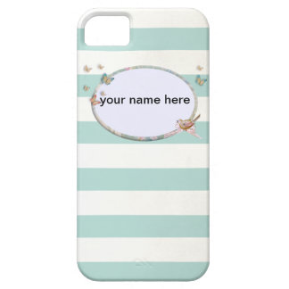 Blue White and striped iPhone 5 marries iPhone SE/5/5s Case
