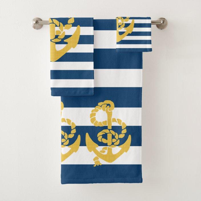Patriotic Nautical Anchor Print Kitchen//Bath Hand