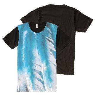 Blue White Angel Bird Feather Inspirational Shirt