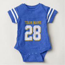 Blue White Baby Football Jersey Sports Romper