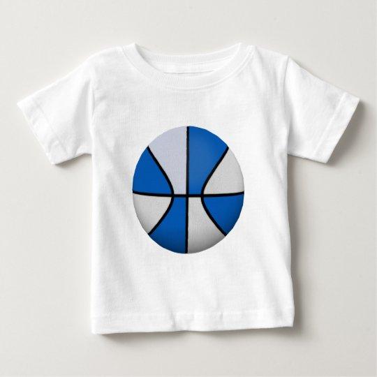 Blue & White Basketball: Baby T-Shirt