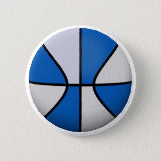 Blue & White Basketball: Button