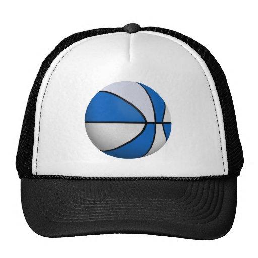 Blue & White Basketball: Mesh Hat