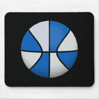 Blue & White Basketball: Mousepad
