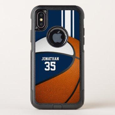 blue white basketball team colors varsity boys OtterBox commuter iPhone x case