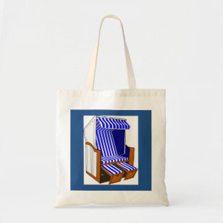 Blue & White Beach Chair Tote Bag
