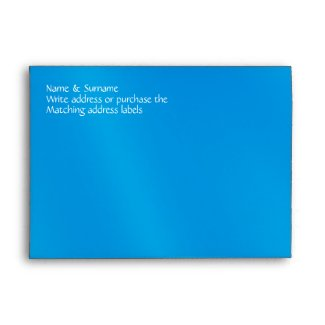 Blue white beach starfish wedding envelopes