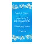 Blue white beach starfish wedding photo greeting card