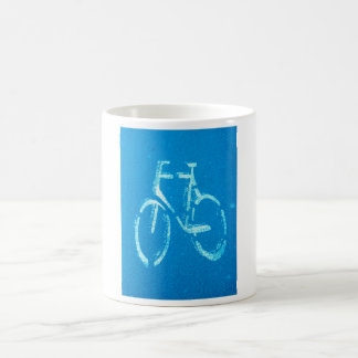 Blue White Bicycle,  Cycling Bicycles Sign Coffee Mug