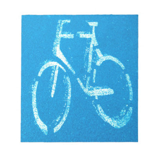 Blue White Bicycle,  Cycling Bicycles Sign Notepad
